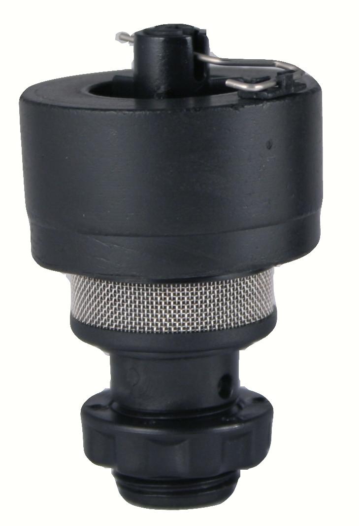 经由一条导管衔接,其顶端的泄压阀可调节微量排气,空压机自动排水器之图片