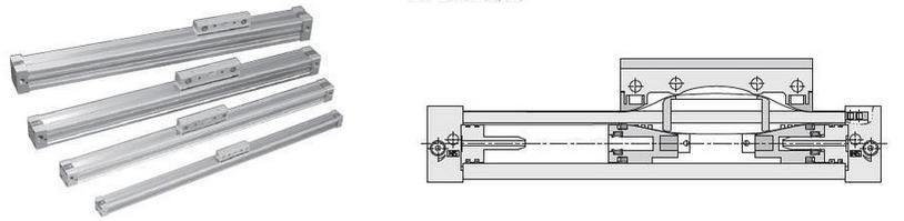 机械式无杆气缸实物图和结构图图片