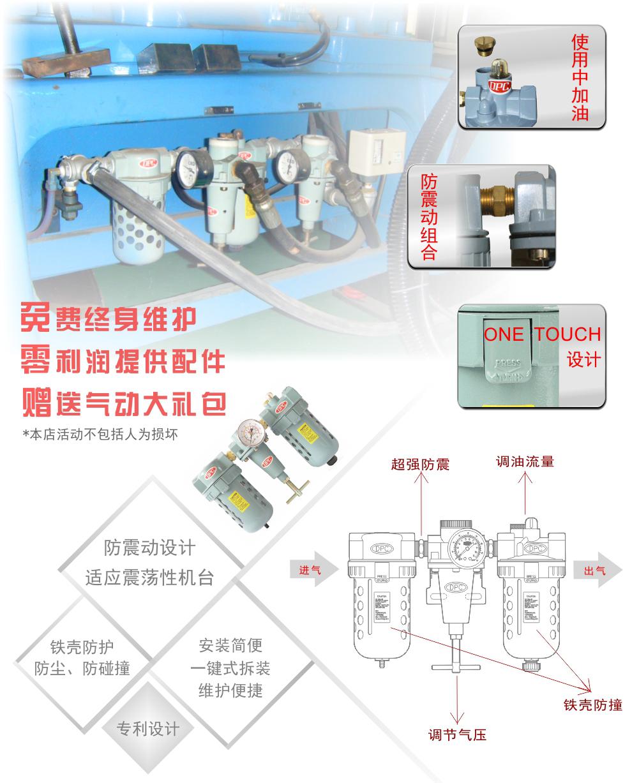 P803气源三联件采购细节图