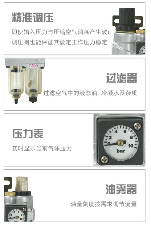 T200气源二联件细节